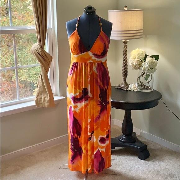 Enfocus Studio Dresses & Skirts - Enfocus Studio Tropical Halter Dress Size 14